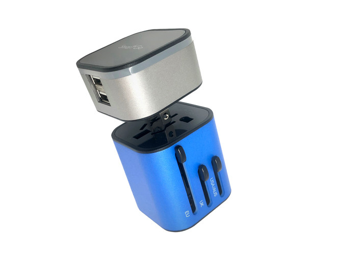 SmartGo MIX 2USB Universal Travel Charger, 2-in-1