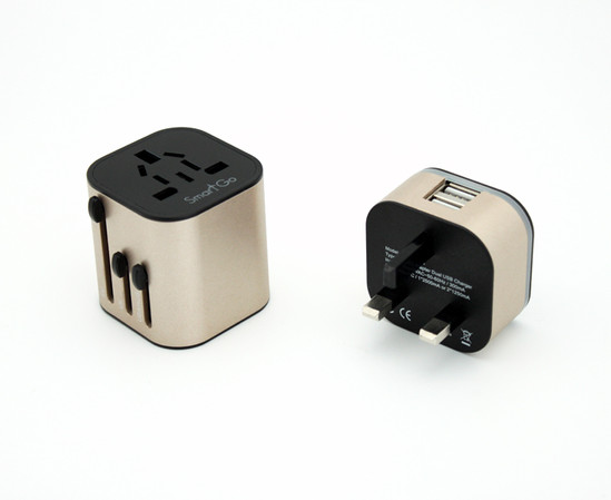 SmartGo MIX 2USB Travel Charger, 2-in-1
