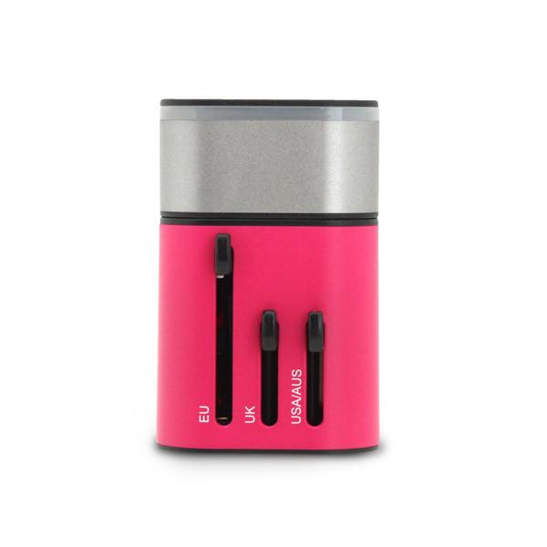 SmartGo MIX 2USB Universal Travel Charger Pink