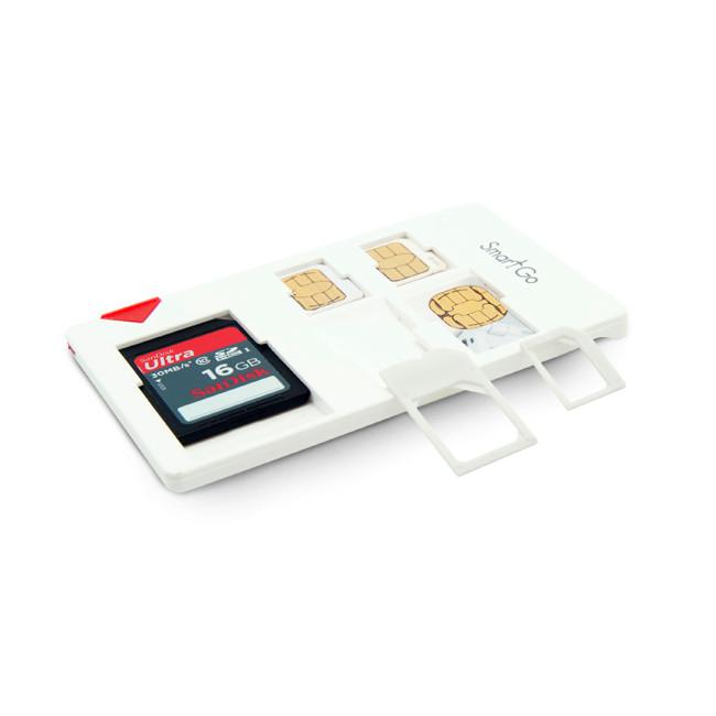 SmartGo SIM & SD Combo White