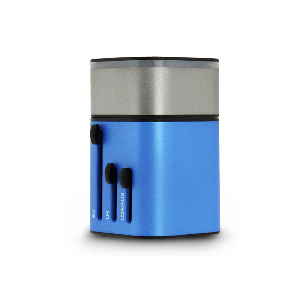 SmartGo MIX 2USB Universal Travel Charger Blue