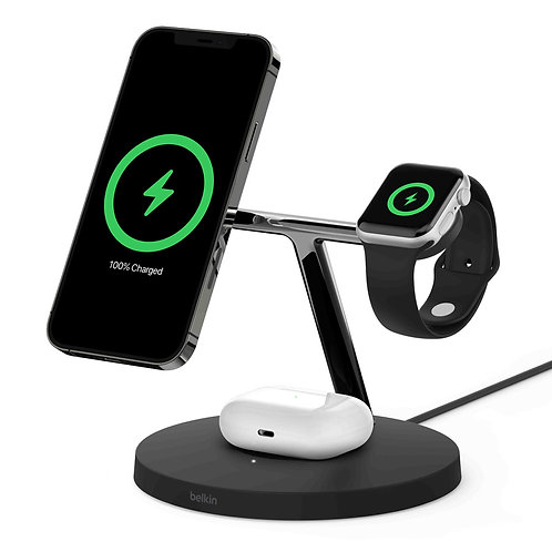 Belkin BOOST↑CHARGE™PRO 3-in-1 Wireless Charger with MagSafe 15W