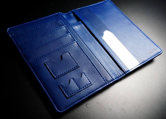 SmartGo LUX Passport Holder Black, Inside