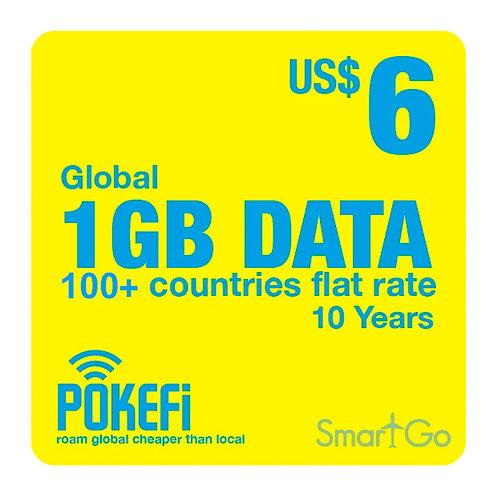 1GB Data Global 100+