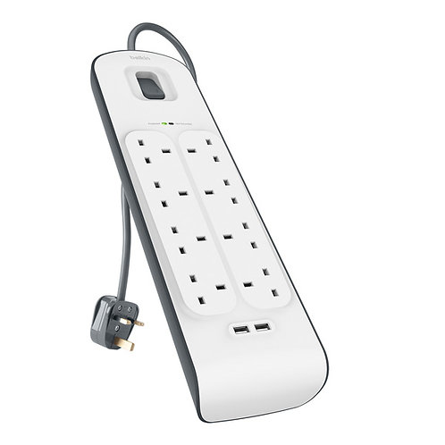 Belkin 2.4A USB Charging 8-Outlet Surge Protection Strip (ship Hong Kong only)