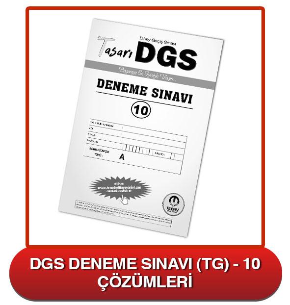 DGS Deneme Sınavı Çözümleri-TG10