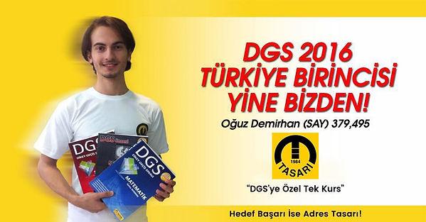DGS Türkiye Birincisi