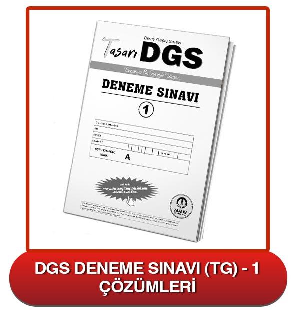 DGS Deneme Sınavı Çözümleri-TG1