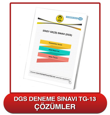 DGS Deneme Sınavı Çözümleri-TG13
