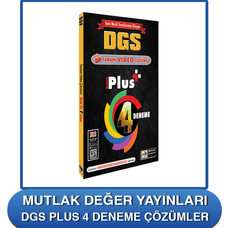 Mutlak Değer Yayınları DGS Plus 4 Çözümleri