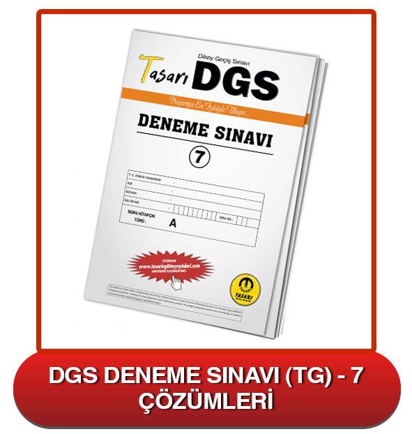 DGS Deneme Sınavı Çözümleri-TG7
