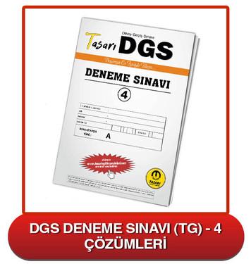 DGS Deneme Sınavı Çözümleri-TG4