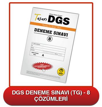 DGS Deneme Sınavı Çözümleri-TG8