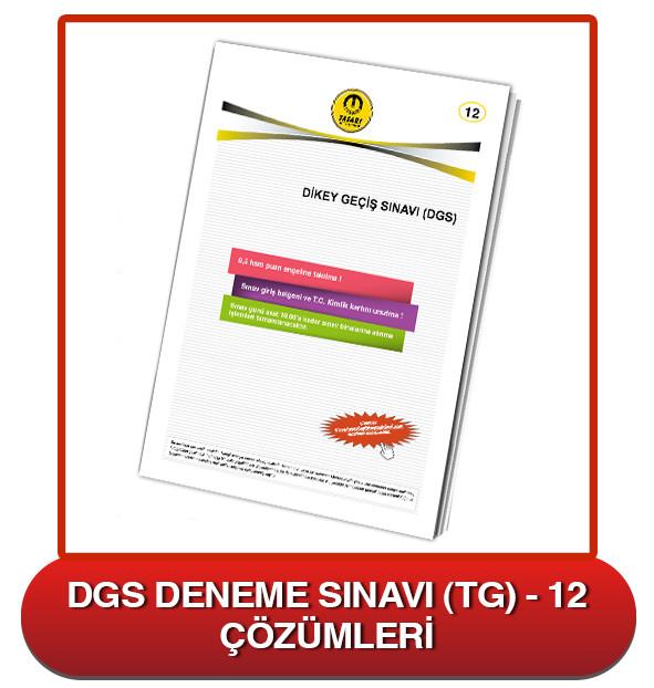 DGS Deneme Sınavı Çözümleri-TG12