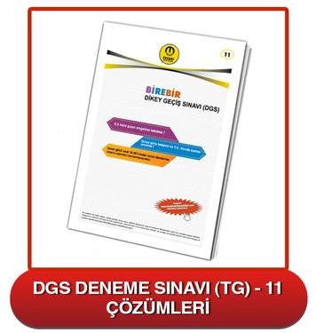 DGS Deneme Sınavı Çözümleri-TG11