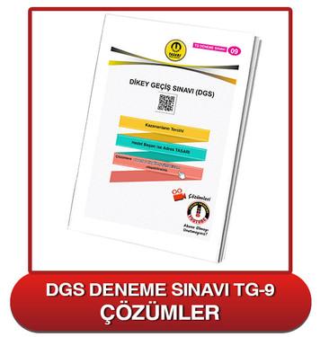 TG DGS Deneme Sınavı-9