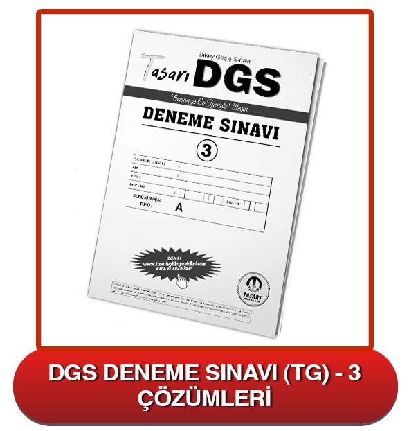 DGS Deneme Sınavı Çözümleri-TG3