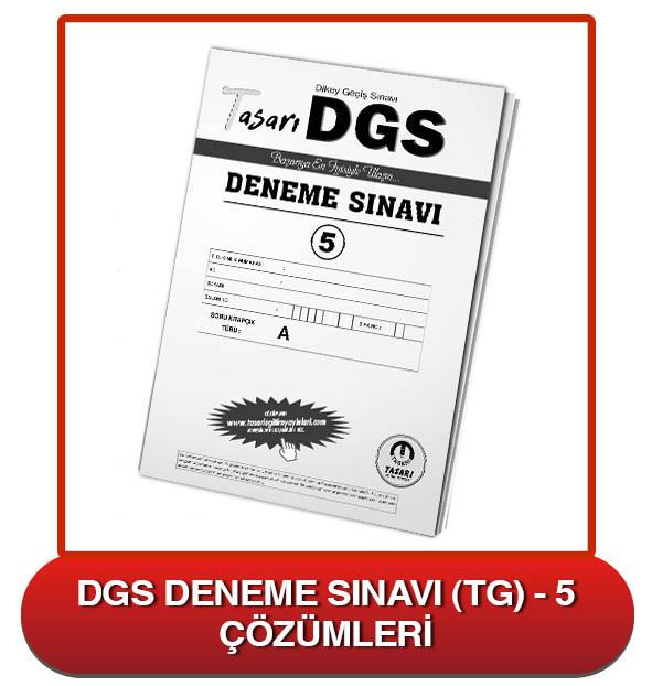DGS Deneme Sınavı Çözümleri-TG5