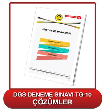 TG DGS Deneme Sınavı-10