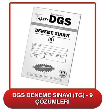 DGS Deneme Sınavı Çözümleri-TG9