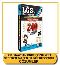 LG Sınavdan Önce Çözülmesi Gereken 240 Fen Sorusu