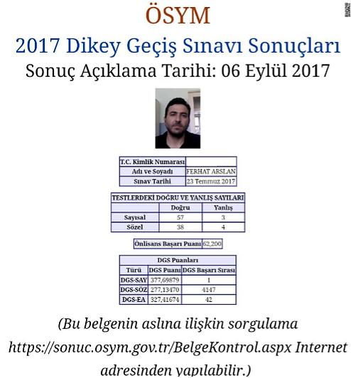 2017 DGS Türkiye Şampiyonu