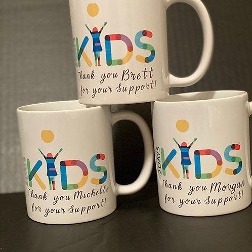 2 Days Kids Logo Mug w/Personalization