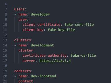 Kubernetes - Using kubectl with kubeconfig files