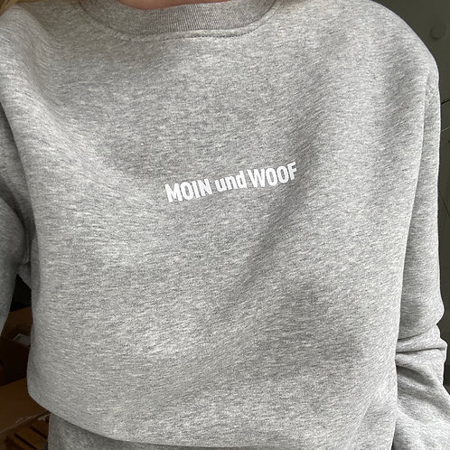 "Lieblingspfote ""MOIN und WOOF"" Sweatshirt Fair Fashion Grey Melange"