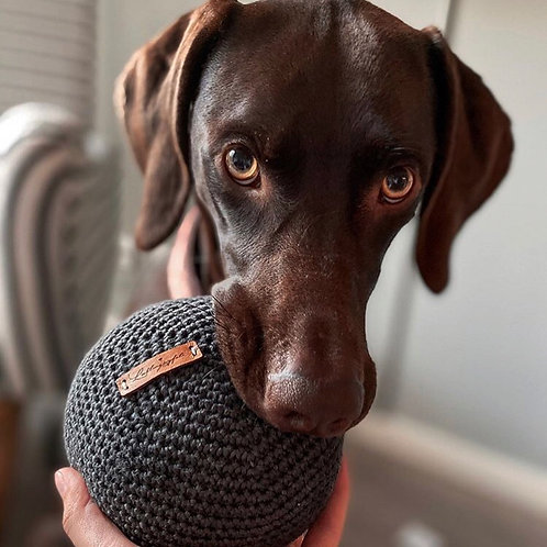 Lieblingspfote Gehäkelter Ball Anthrazit