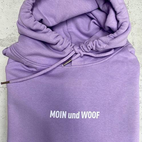 "Lieblingspfote ""MOIN und WOOF"" Damen Hoodie – Light Lila"