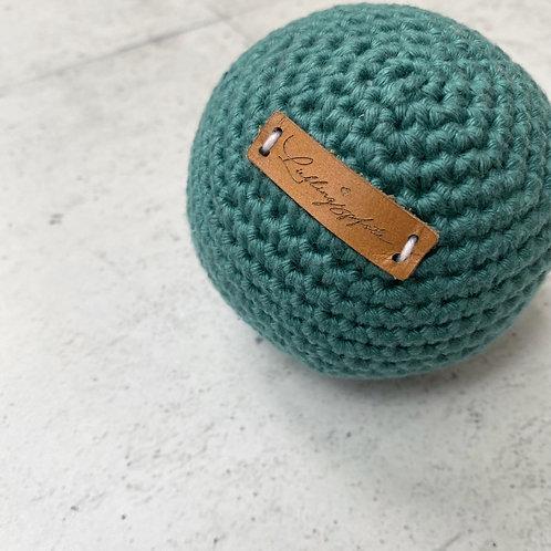 Lieblingspfote Gehäkelter Ball Petrol Green