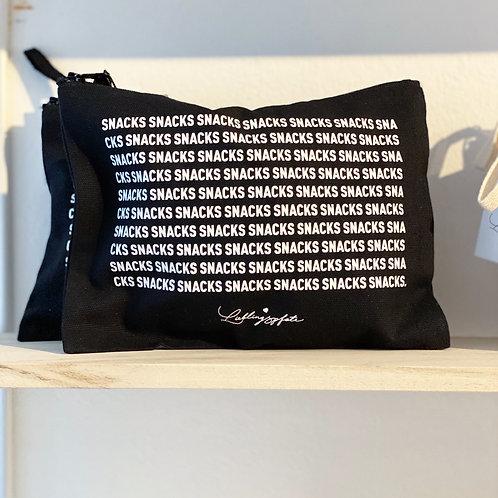 Snack Tasche Schwarz / Weiß