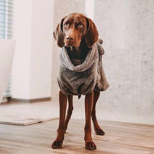 "Lill´s Hundebademantel aus Bio-Baumwolle ""Stone Grey"""