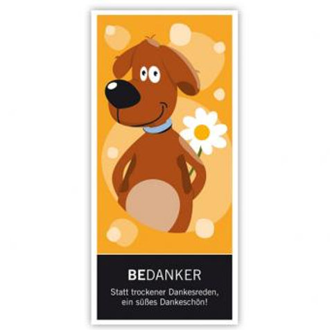 "Schokolade Bedanker ""Hund"" 100g"