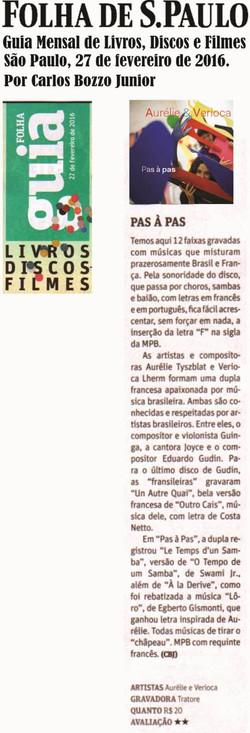 Folha de sao paulo fev 2016