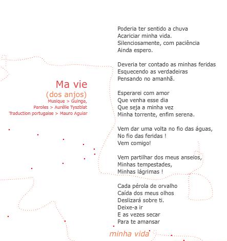 Ma vie tradução