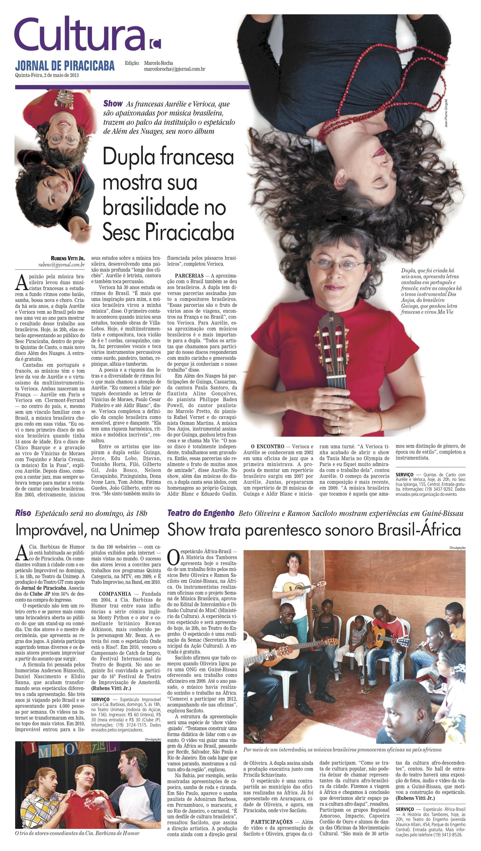 Artigo Jornal de piracicaba HD