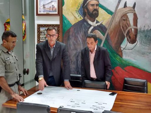 Brigada Militar recebe Projeto de videomonitoramento do GGIM de Rosário do Sul