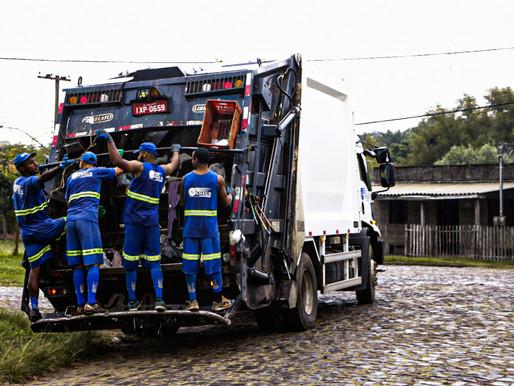 A rotina de trabalho dos coletores de lixo em Livramento