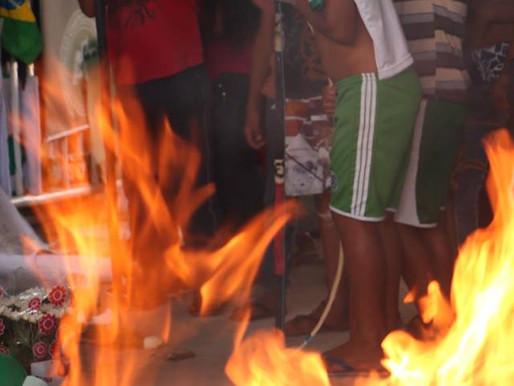 Homenagem da tribo Kaingang