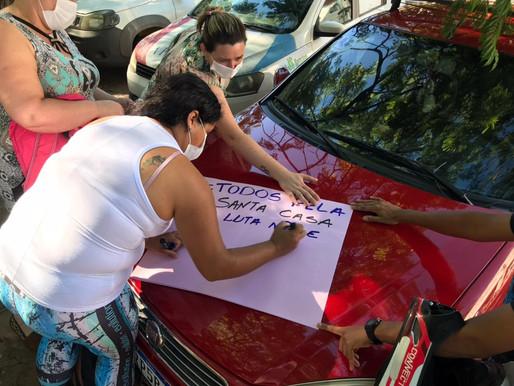 Funcionários do Hospital Santa Casa de Misericórdia iniciam greve