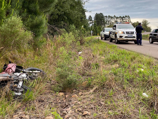 Motociclista grave por accidente en ruta 27 en Rivera