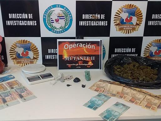 7 personas detenidas por venta de drogas en Rivera