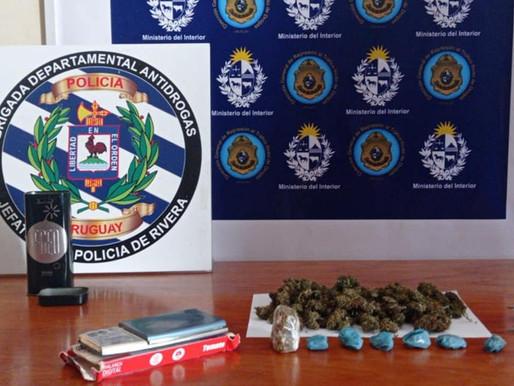 Policía antidrogas realizó allanamientos en cerro del Marco y línea divisoria