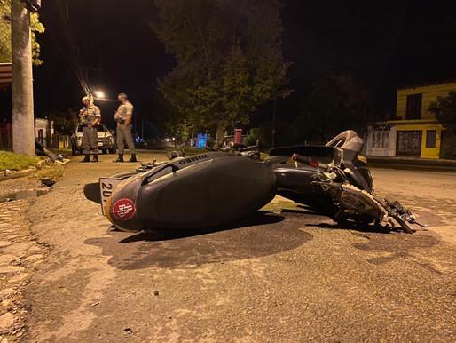 Acidente com ferido no bairro Prado