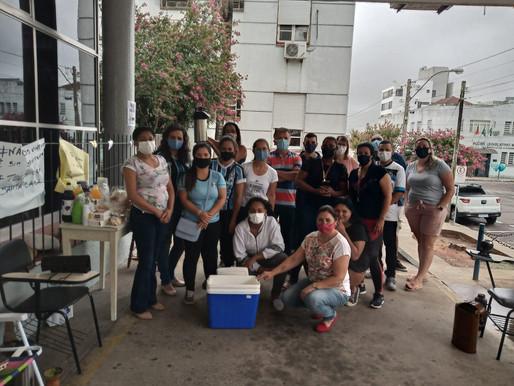 Consulado Feminino do Grêmio realiza entregas de café da manhã para os funcionários da Santa Casa