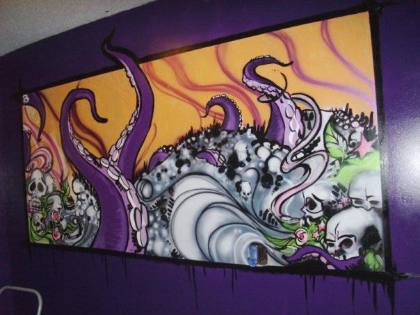 Bryan's Skulls & Roses (mural)