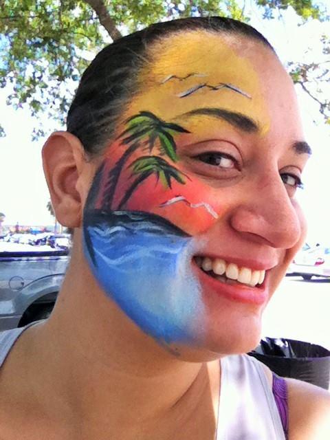 tropical face paint