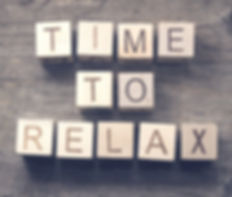 Time To Relax text on a wooden cubes_edi